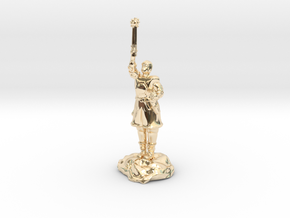 Human Cleric Zealot Of Pelor with Mace in 14K Gold