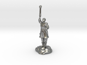 Human Cleric Zealot Of Pelor with Mace in Natural Silver