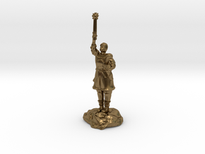 Human Cleric Zealot Of Pelor with Mace in Natural Bronze