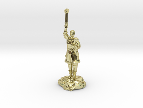 Human Cleric Zealot Of Pelor with Mace in 18K Gold Plated