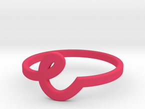 Whimsical Letter Ring (e) in Pink Processed Versatile Plastic: 5 / 49