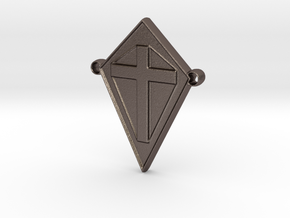 cross101916-ch in Polished Bronzed Silver Steel