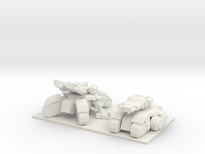 1/150 SeigeTank Both Modes in White Natural Versatile Plastic