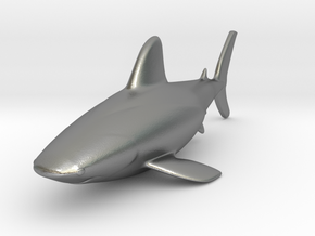 Shark miniature in Natural Silver: Small