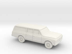 1/87 1968-72  GMC Suburban Carryall in White Strong & Flexible