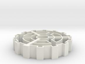 Steampunk gear Cookie Cutter 2 in White Natural Versatile Plastic
