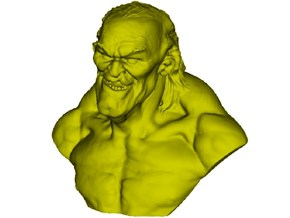 1/9 scale nasty & cunning old man bust in Smooth Fine Detail Plastic