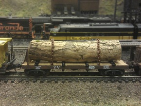 Yosemite Bulk Head Log Car x3 - N Scale 1:160 in Frosted Ultra Detail