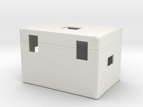 Scale 1/6 Back to the future Plutonium Box in White Natural Versatile Plastic
