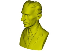 1/9 scale Nikola Tesla bust in Smooth Fine Detail Plastic