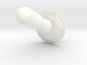 Lunar Module Switch 1 in White Processed Versatile Plastic