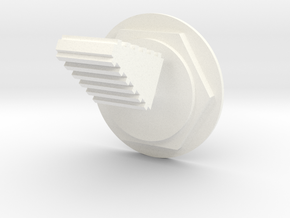 Lunar Module Switch 2 On Off in White Processed Versatile Plastic