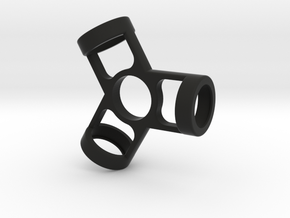 The Fusion - Fidget Spinner in Black Strong & Flexible