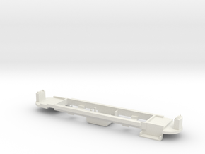 Chassis Johannesburg Streamliner 4mm in White Natural Versatile Plastic