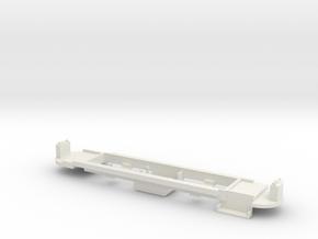 Chassis Johannesburg Streamliner 4mm in White Natural Versatile Plastic