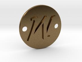 M pendant in Natural Bronze