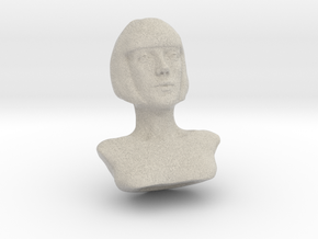 Woman with Short Hair  in Sandstone