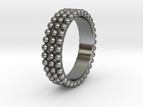 Ring with ball in Polished Silver