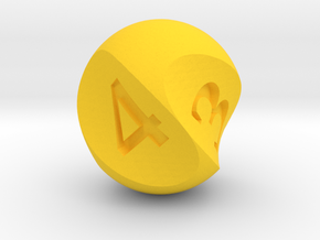 Twirly Dice set in Yellow Strong & Flexible Polished: d4