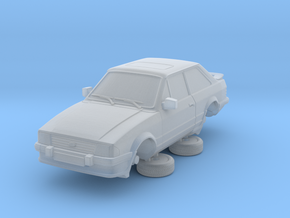 Ford Escort Mk3 1-76 2 Door Xr3i in Smooth Fine Detail Plastic