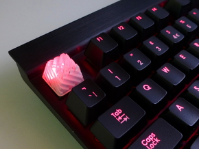 Sliced Cherry MX Keycap in Smooth Fine Detail Plastic