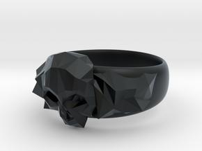 PolySkullRing in Black Hi-Def Acrylate