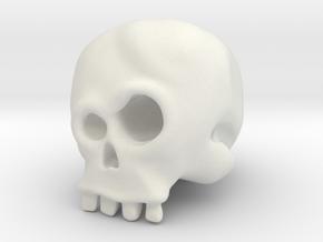 Skull Bob in White Natural Versatile Plastic