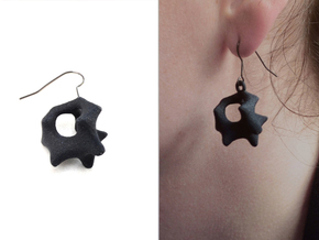 Earrings Hear in Black Natural Versatile Plastic