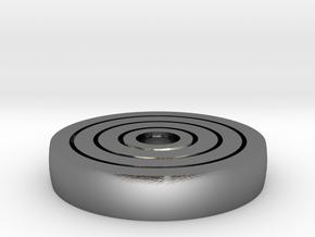 Spinny Fidget in Polished Silver (Interlocking Parts)