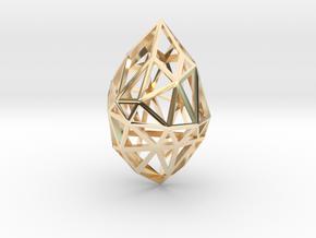 Geometric pendant 'Rough Diamond' (small) in 14K Yellow Gold