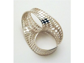 Ring nastro in Polished Silver: 5 / 49