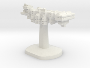 Tempus Nautica Board Game Piece - Player ship in White Natural Versatile Plastic