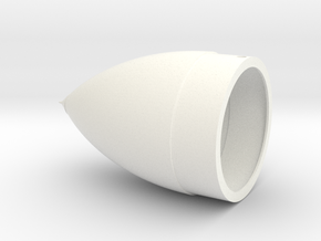 Space Shuttle ET Nose Cone in White Strong & Flexible Polished