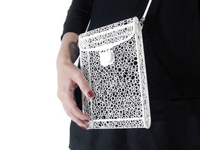 Voronoi bag in White Natural Versatile Plastic