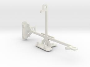 HTC Desire 520 tripod & stabilizer mount in White Natural Versatile Plastic