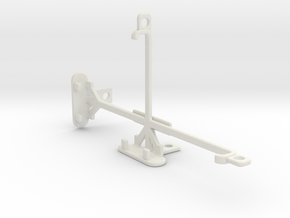 HTC Desire 830 tripod & stabilizer mount in White Natural Versatile Plastic