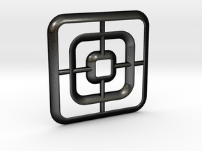 Square pendant in Matte Black Steel