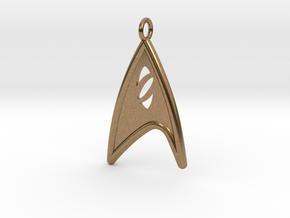Starfleet Science Badge pendant in Natural Brass