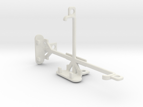 LG G3 S Dual tripod & stabilizer mount in White Natural Versatile Plastic