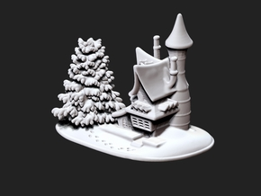 Snow House-w in White Natural Versatile Plastic