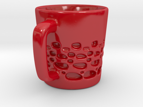 Cup in Gloss Red Porcelain: Small