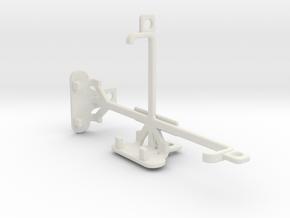 Motorola Moto E (2nd gen) tripod mount in White Natural Versatile Plastic