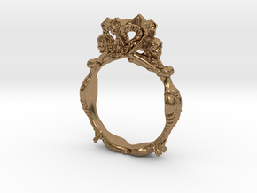 Fashion Ring in Natural Brass