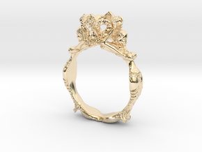 Fashion Ring in 14k Gold Plated Brass