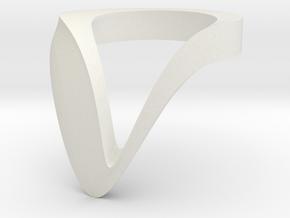 VATA BOLD monochrome + color in White Natural Versatile Plastic