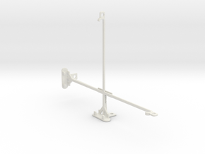Samsung Galaxy Tab Pro 10.1 tripod mount in White Natural Versatile Plastic