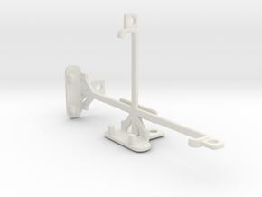 Sony Xperia M2 Aqua tripod & stabilizer mount in White Natural Versatile Plastic