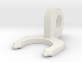 Bodwen Tube Locking Clip in White Natural Versatile Plastic