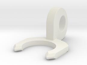 Bodwen Tube Locking Clip in White Natural Versatile Plastic