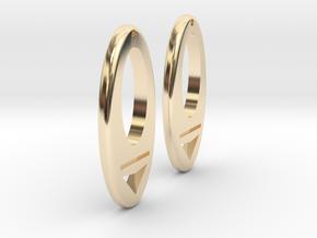 Earring Model I Pair in 14k Gold Plated Brass